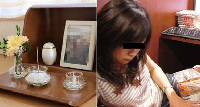 【自業自得】夜帰ったら夫に「既婚彼氏の所にでも行け」と追い出されてネカフェへ。子供に私はタヒんだと伝え、リビングに私の写真と線香立てを置いて...