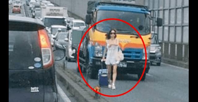 【炎上】千葉県の国道を堂々と歩くDQN女!大渋滞を起こしドライバーが大激怒!⇒ その結果トンデモナイことに・・・