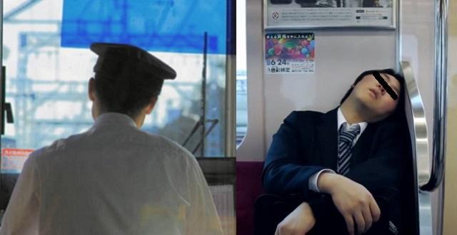 【衝撃】電車の中で5時間もの間ずっと寝ている男性 → 起こそうとしたら、驚愕の結末に・・・