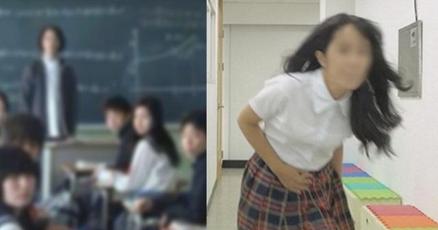 【悲劇】授業中にトイレに行かせなかった教師のせいでう〇こを漏らした女子高生 → 結果・・・