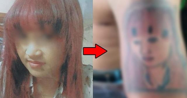 【悲劇】「一生愛してる」と彼女の顔のタトゥーを入れた彼氏 → そのクオリティがヒド過ぎた結果・・・