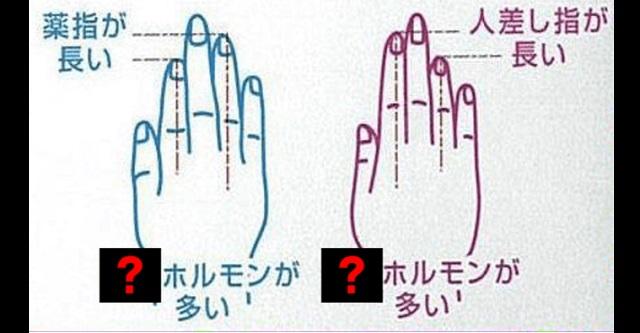 【診断】手の指の長さを見るだけで男性脳か女性脳かが分かる超簡単診断法とは