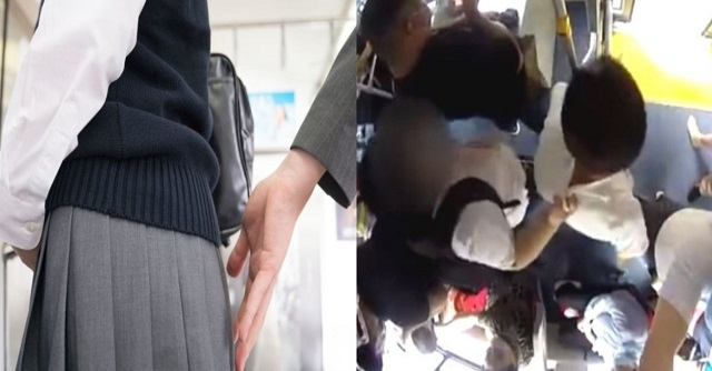【武勇伝】バスの中でセクハラ被害に遭った女子高生 → 逃げる男の胸ぐらをつかんで撃退