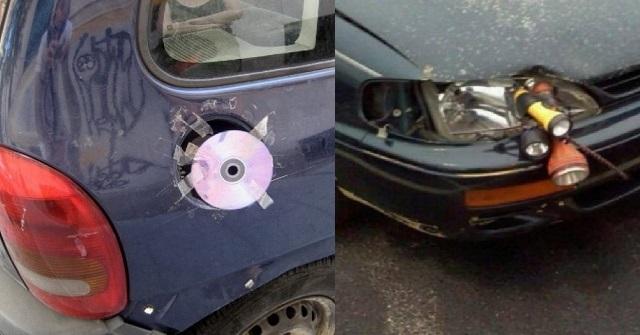 【衝撃画像】世界の広さを実感する「ありえない」車の修理画像20選