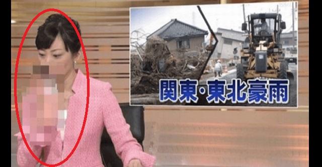 【衝撃】NHKのニュース放送中に女子アナがトンデモナイ行動をした放送事故!!