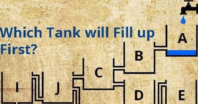 【想像力クイズ】バルブを開けたら最初に満杯になるのは、どのタンクでしょうか?これ、意外と簡単なようで…!?