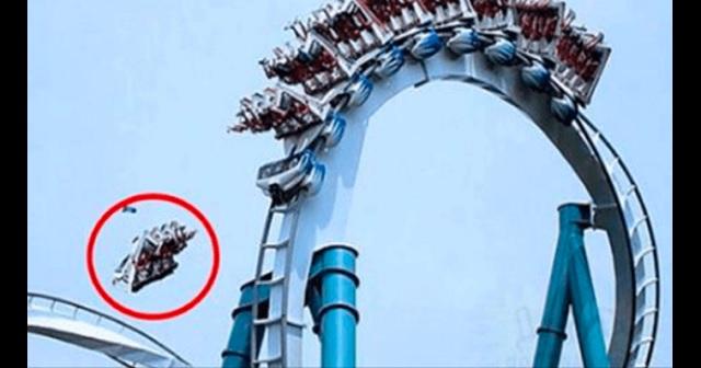 【閲覧注意】レールから外れたジェットコースターが10mの高さから地面に落下!!悲惨な事故の画像が公開される・・・