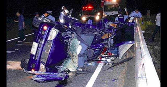 【衝撃】19歳5人全員事故死!奈良県明日香村で起きた自動車事故直前の車内自撮り写真がヤバすぎる・・・